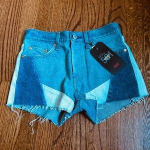 Levi's mid rise shorts